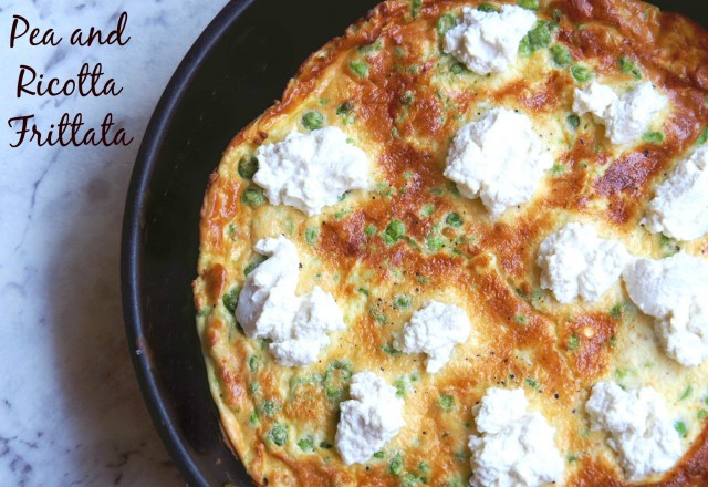 Pea and Ricotta Frittata