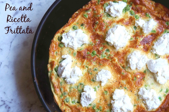 Pea and Ricotta Frittata title