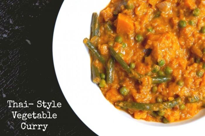 Thai Style Vegetable Curry 1