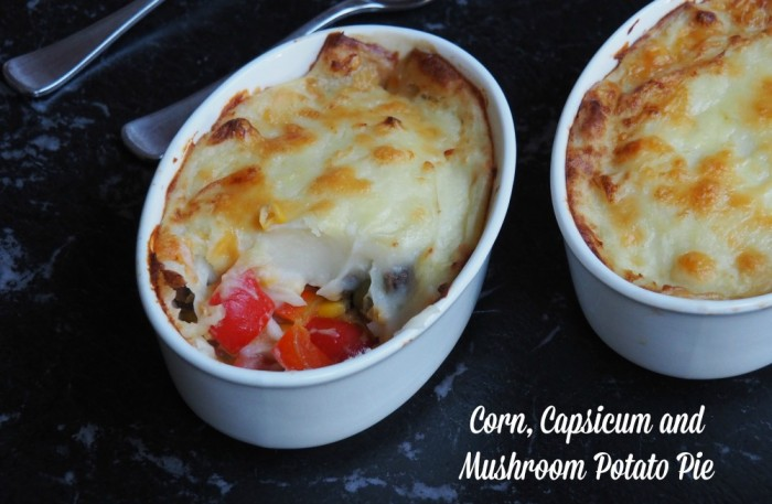 Corn, Capsicum and Mushroom Pudding 1