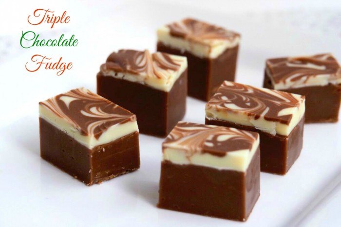 Triple Chocolate Fudge 1