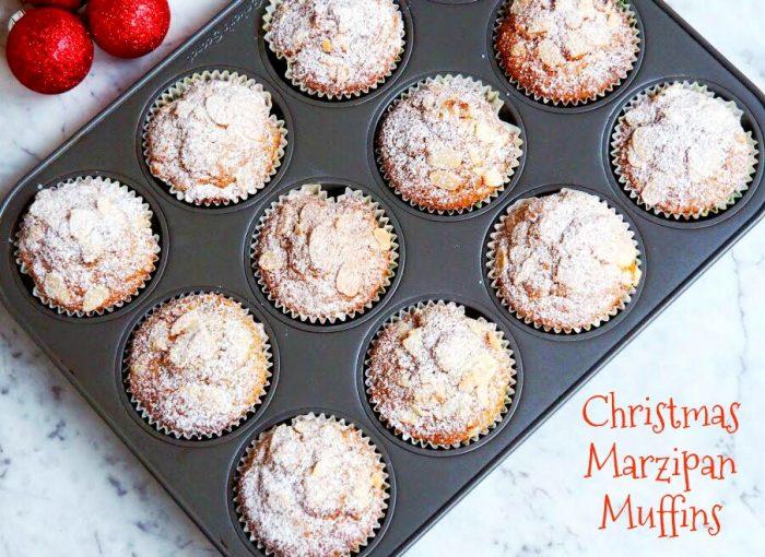 Christmas Marzipan Muffins