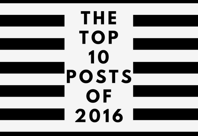 The 10 Most Popular Posts of 2016