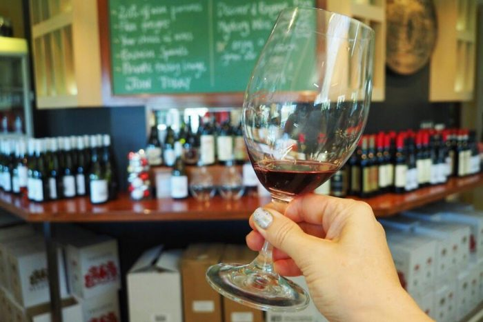 Tullochs wine tasting