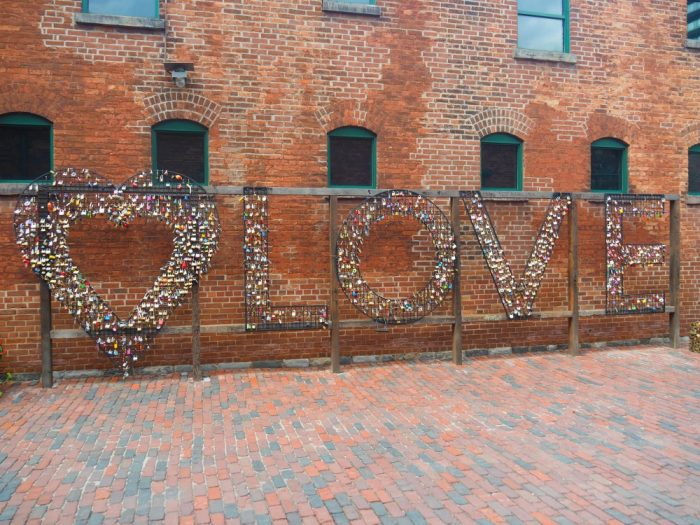 Things to do in Toronto - Distillery District padlocks
