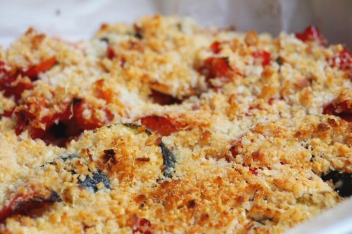 Baked ratatouille with lemon and parmesan crumb 2