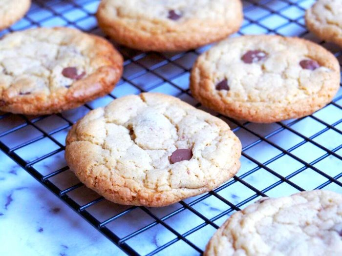 melt and mix choc chip cookies 4