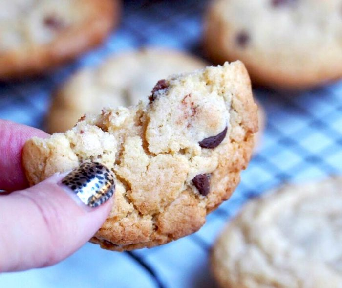 melt and mix choc chip cookies 5