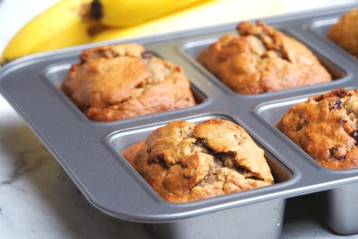Raisin and Walnut Mini Banana Loaves 2