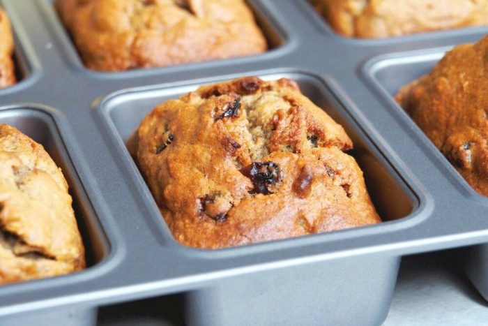 Raisin and Walnut Mini Banana Loaves 3