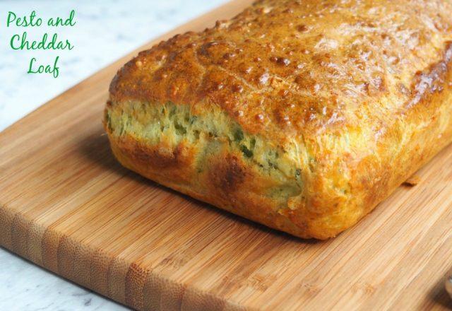 Pesto and Cheddar Loaf