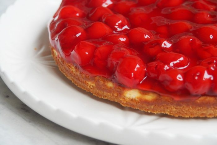Baked Cherry Cheesecake 2