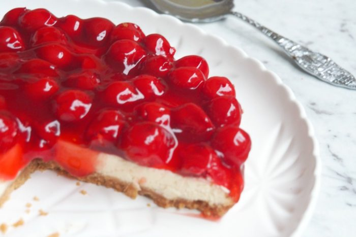 Baked Cherry Cheesecake 5