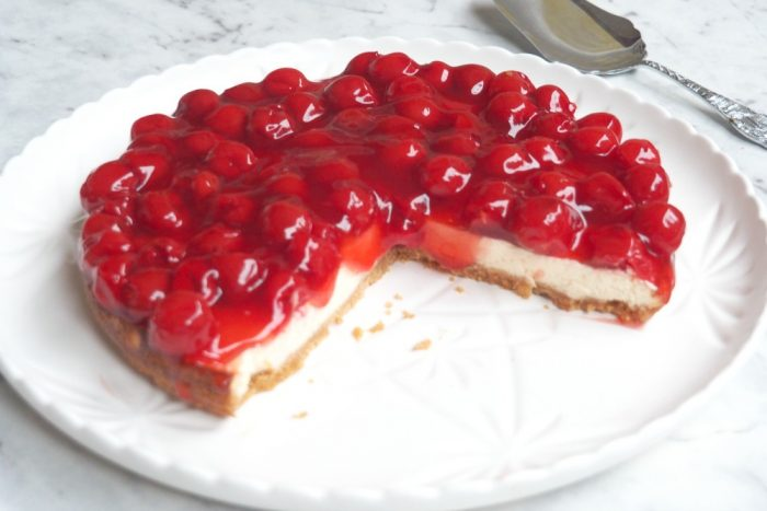 Baked Cherry Cheesecake 4