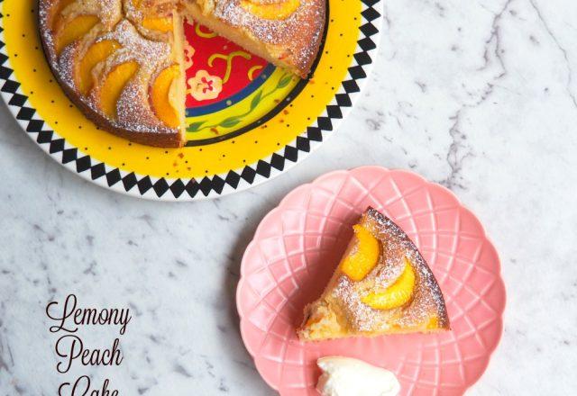 Lemony Peach Cake