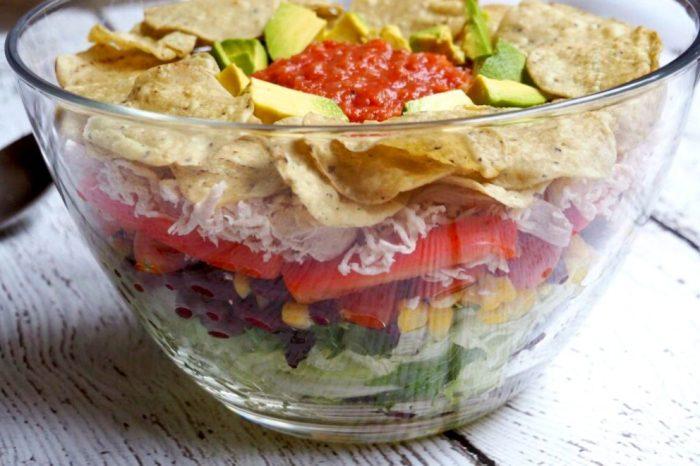 Layered Chicken Taco Salad 2