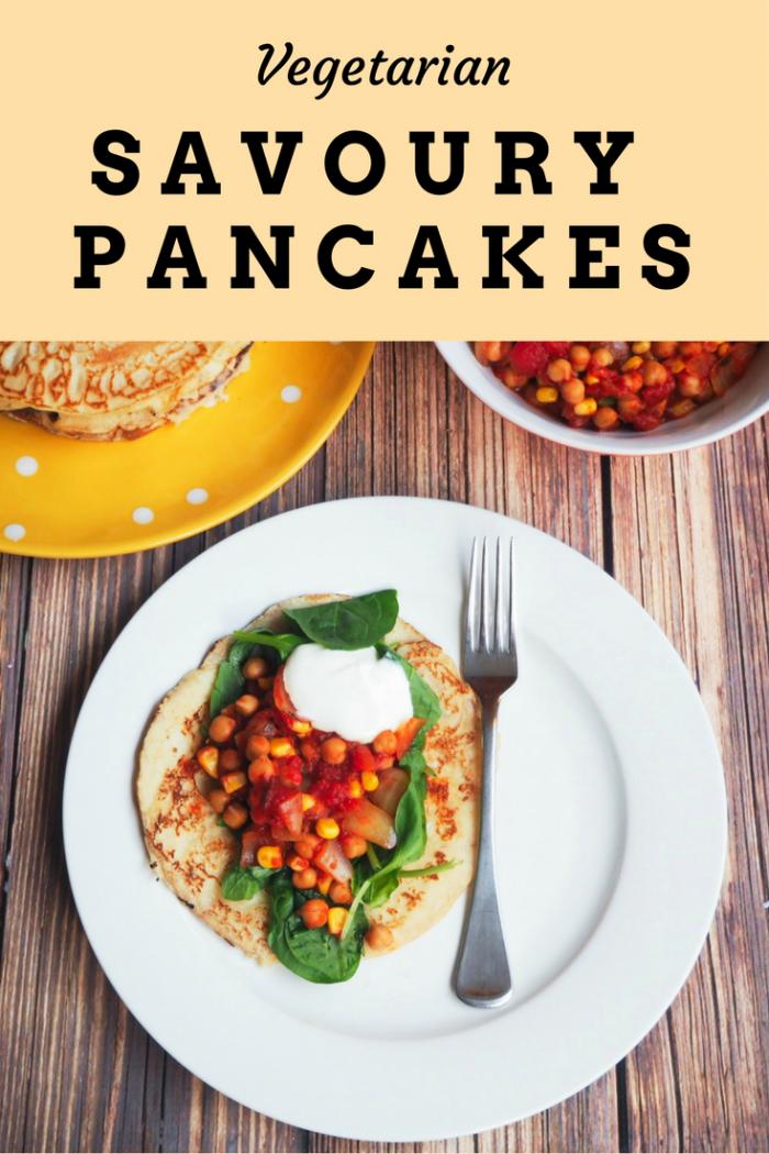 savoury pancakes pin