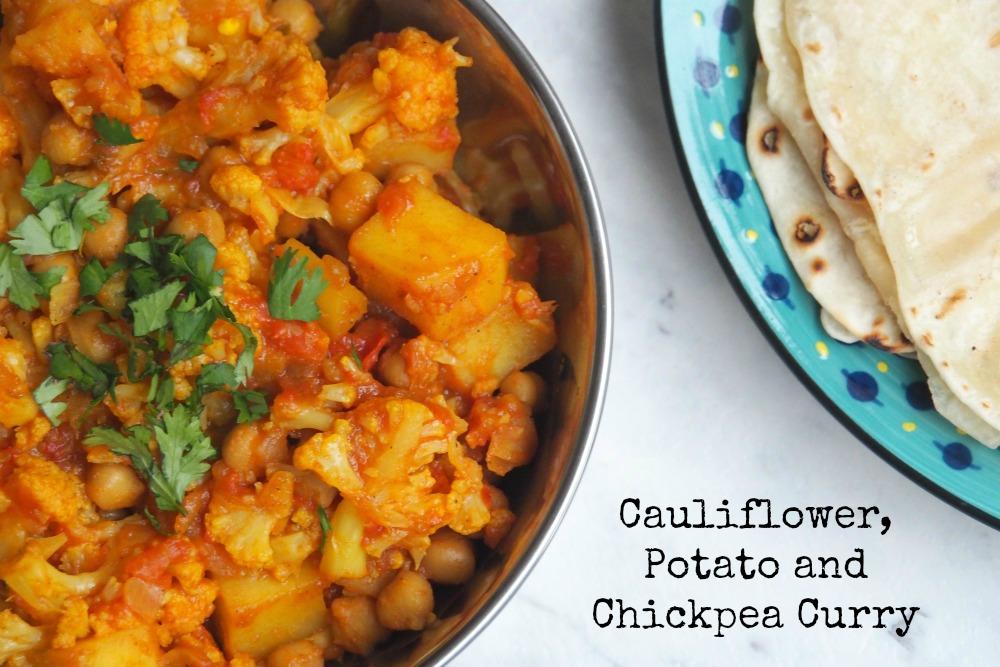 Cauliflower, Potato and Chickpea Curry
