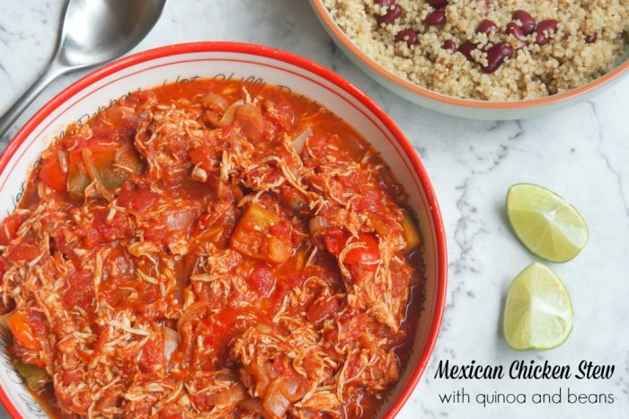 Mexican Chicken Stew with quinoa and beans
