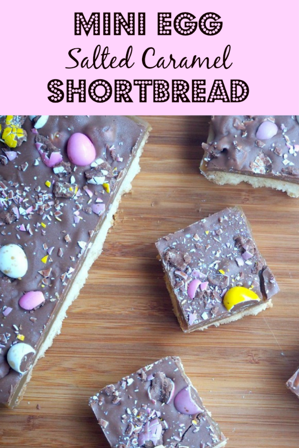 Mini Egg Salted Caramel Shortbread pin