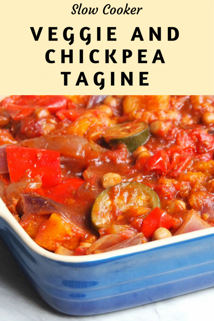 Slow Cooker Veggie and Chickpea Tagine - The Annoyed Thyroid