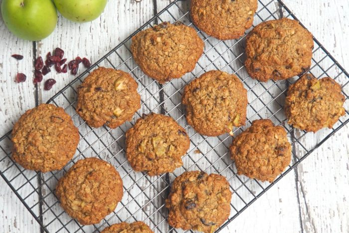 Apple and Cranberry Breakfast Cookies 4