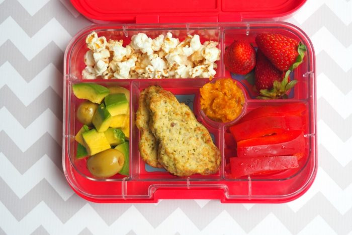 Cheesy Cauliflower Pesto Clouds yumbox