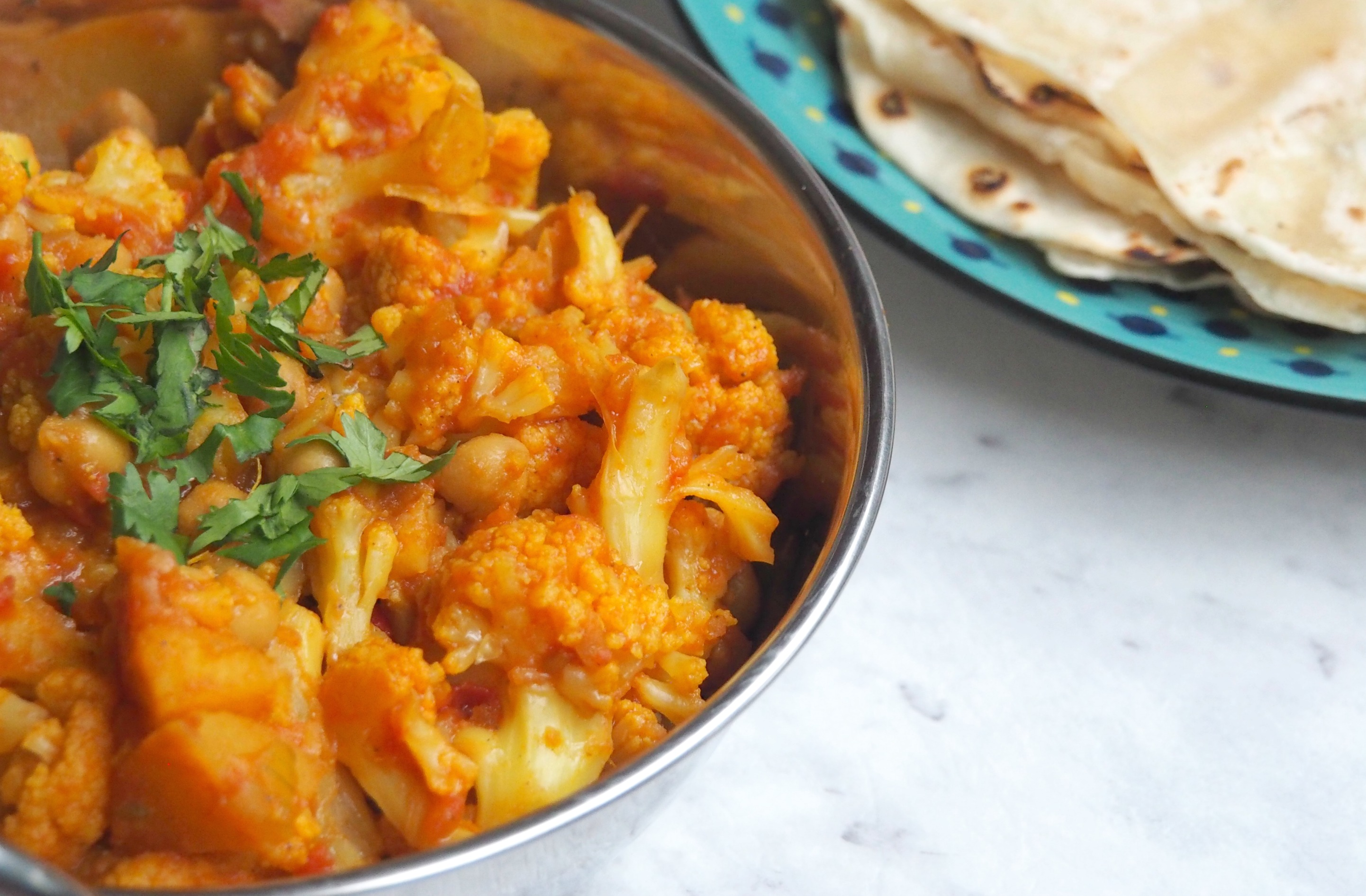 Cauliflower, Potato and Chickpea Curry