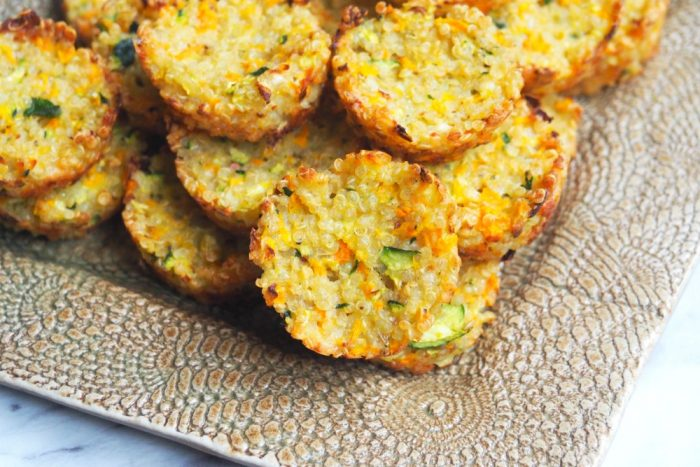 cheesy quinoa bites yum box