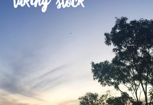 Taking Stock – March