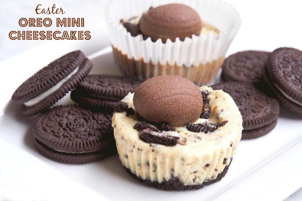 Easter Oreo Mini Cheesecakes