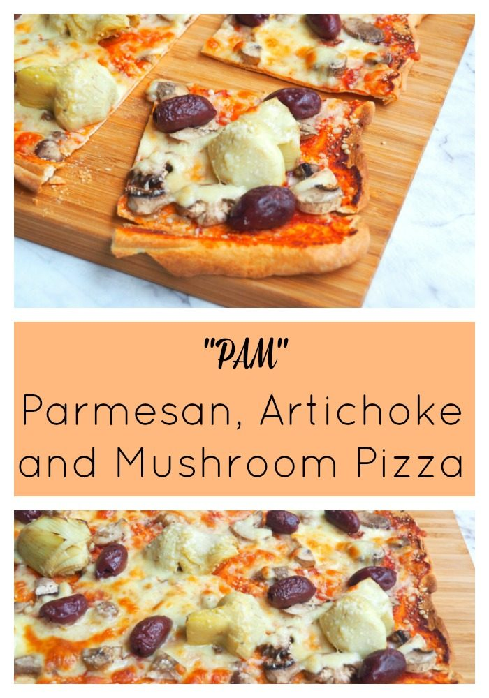 Parmesan Artichoke and Mushroom Pizza - The Annoyed Thyroid