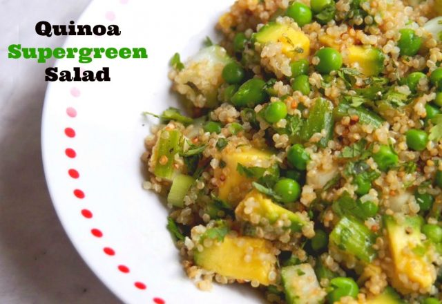 Meatless Monday – Quinoa Supergreen Salad