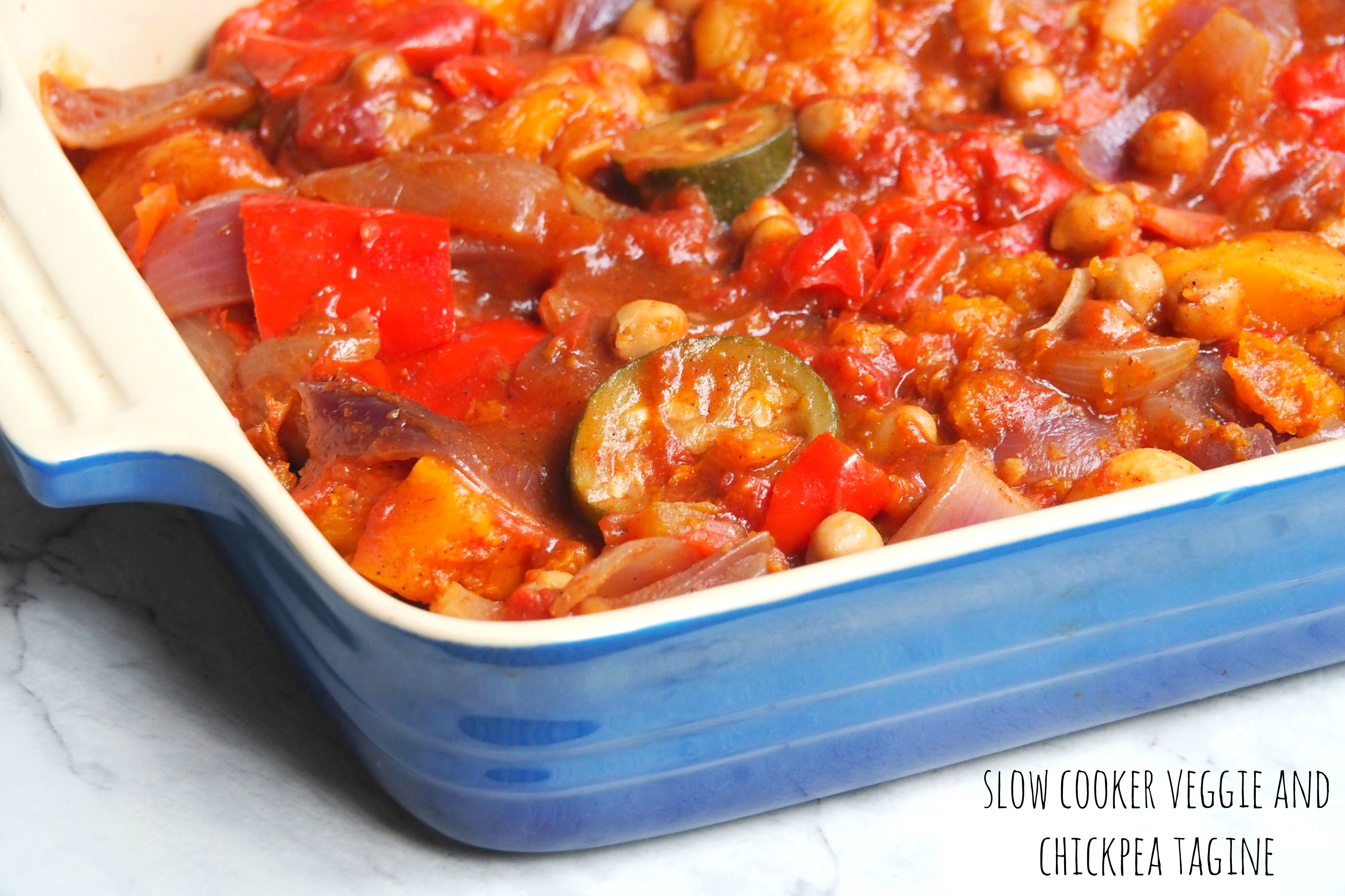 Slow Cooker Veggie and Chickpea Tagine