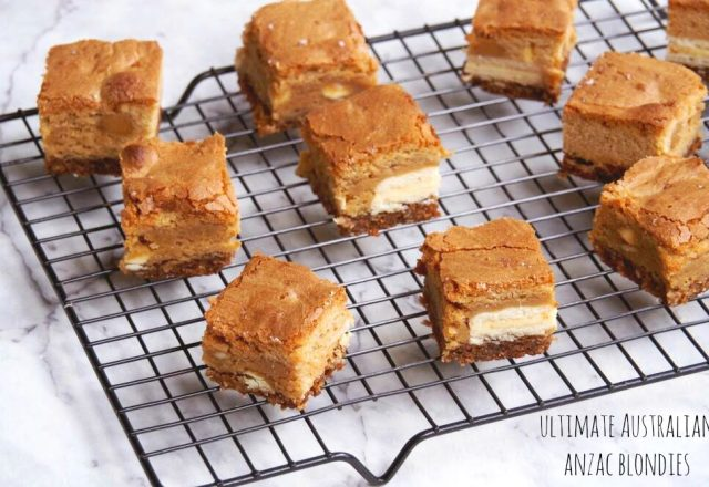 Ultimate Australian Anzac Blondies