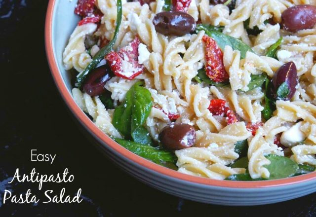 Meatless Monday – Easy Antipasto Pasta Salad