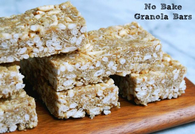 Thermomix No Bake Granola  Bars