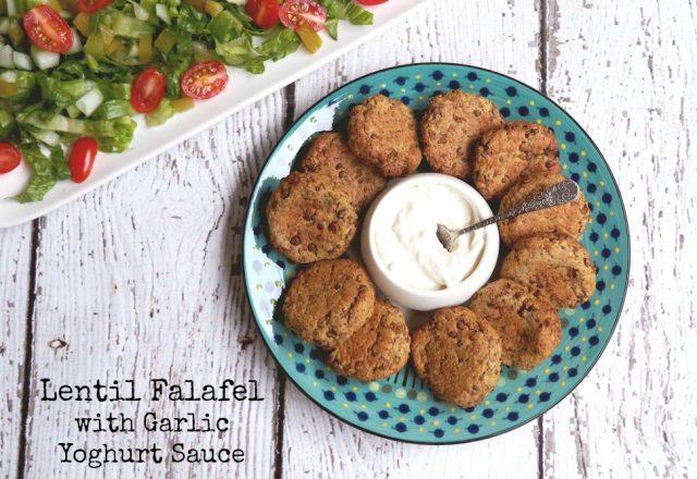 Meatless Monday – Lentil Falafel with Garlic Yoghurt Sauce