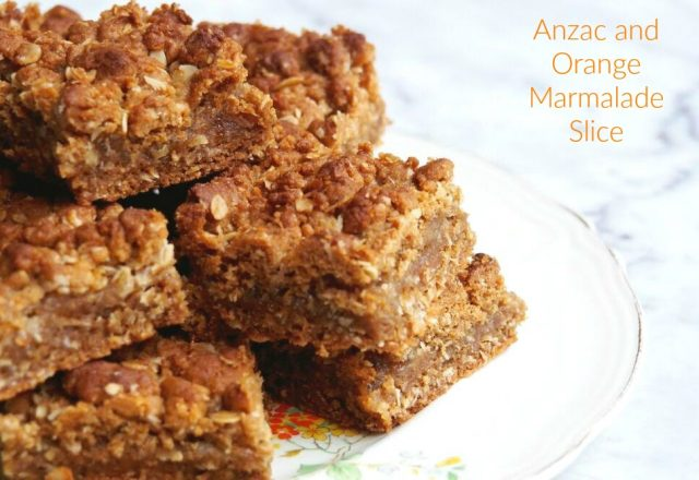 Anzac and Orange Marmalade Slice