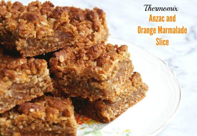 Thermomix ANZAC and Orange Marmalade Slice
