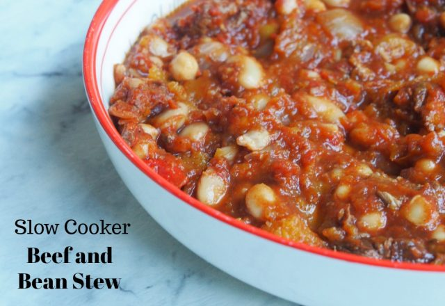 Slow Cooker Beef and Bean Stew