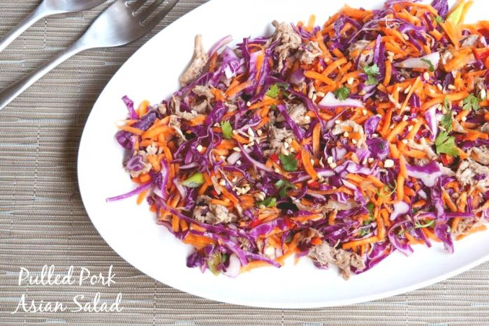 Pulled Pork Asian Salad