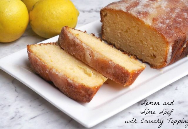 Lemon and Lime Loaf with Crunchy Topping