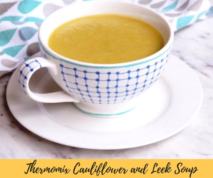 Thermomix Cauliflower and Leek Soup