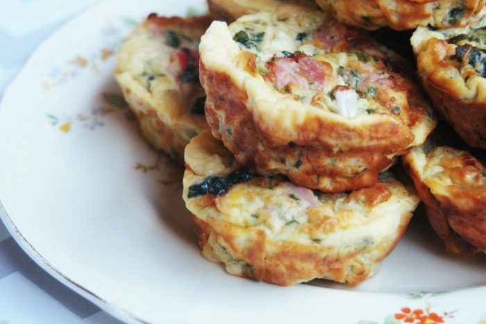 Ham, Spinach and Cottage Cheese Frittatas