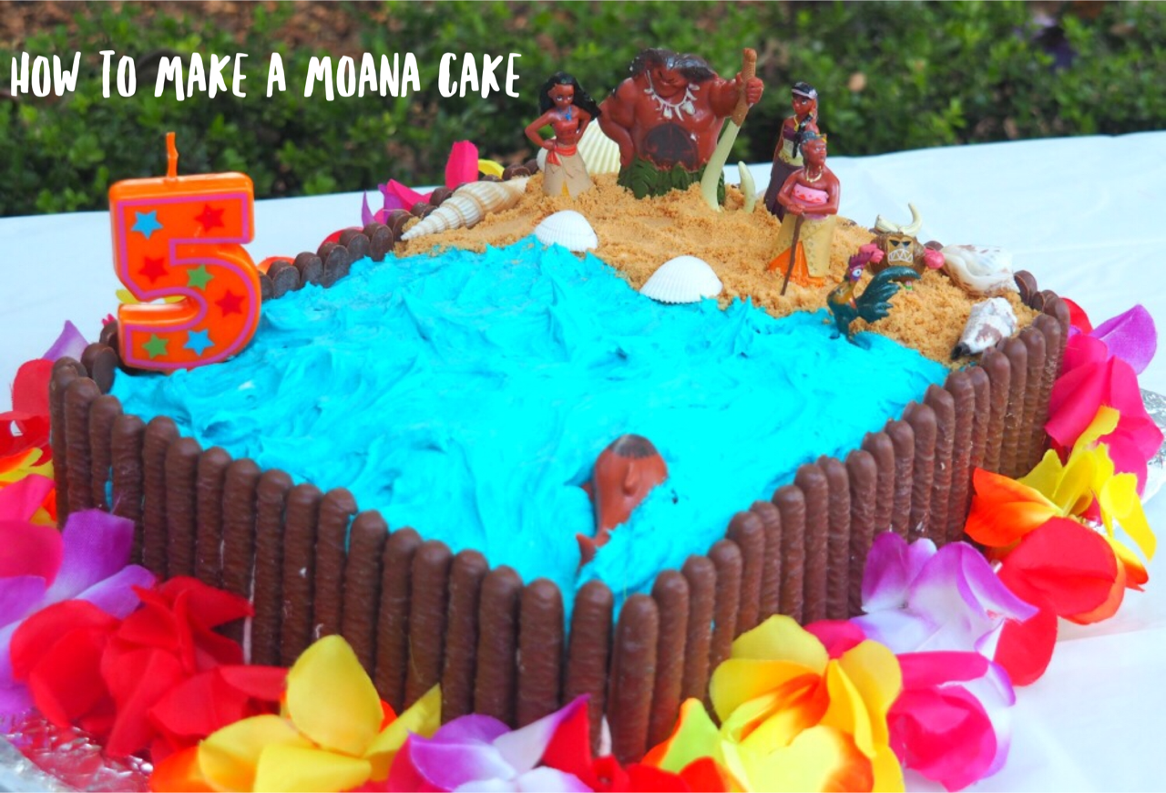 How To Make A Moana Birthday Cake The Annoyed Thyroid