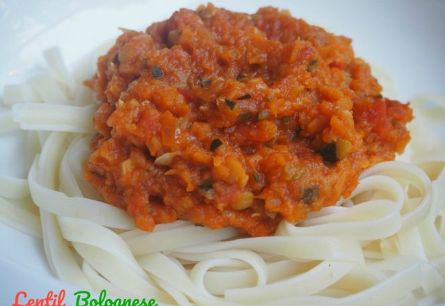 Meatless Monday – Lentil Bolognese