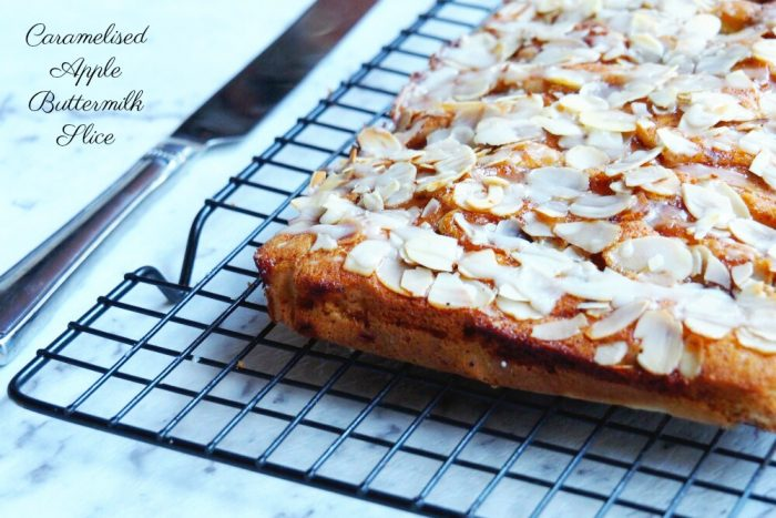 Caramelised Apple Buttermilk Slice