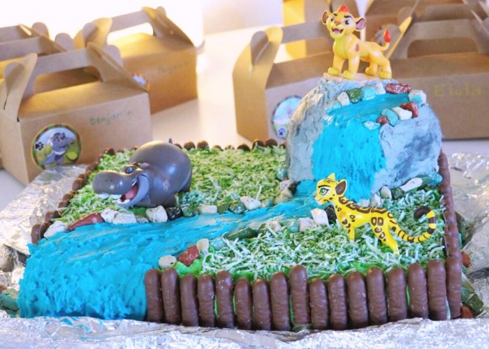 How to make a Lion Guard Cake 5