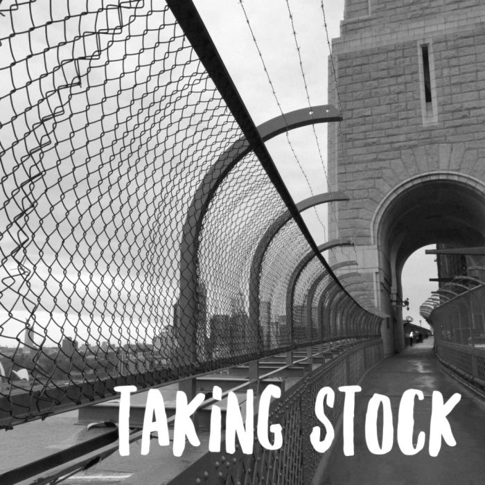 Taking stock - Augsut 2017